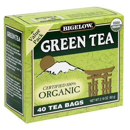 Bigelow Tea, 20 Bags - Organic Green (3 Pack)