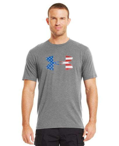 Big Flag Logo T - True Heather Gray, X-Large