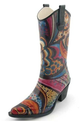 Corkys Rodeo Rain Boots for Women,11 B(M) US,Multi