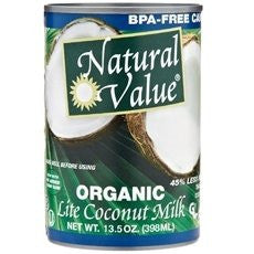 Natural Value Canned Goods Coconut Milk, Lite (13.5 oz.)