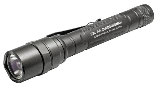 E2LAA OUTDOORSMAN, 3 VOLT, DUAL STAGE 5/115 LUM, WH LED, ALUM OLIVE DRAB TYPE III ANO, CLICK SWITCH