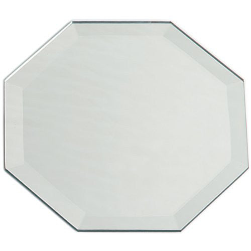 "Darice Octagon Glass Mirror Placemat W/Bevel Edge 12""X18"" Bulk"