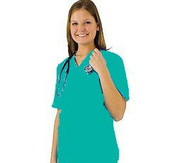 UNISEX 2 POCKET SCRUB SET - Teal XS