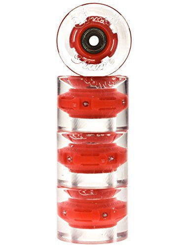Red 4-pack - 59mm/78a Cruiser Wheel with ABEC-9 bearing