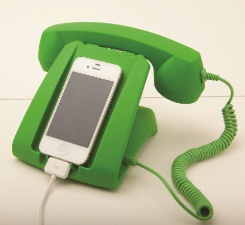 Green Talk Dock Mobile Device Handset and Charging Cradle