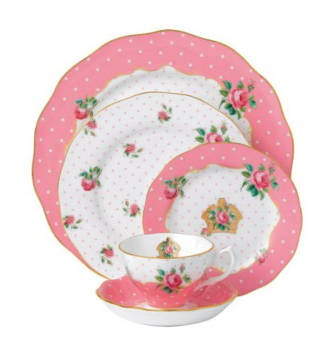 CHEEKY PINK  VINTAGE 5-PIECE PLACE SETTING