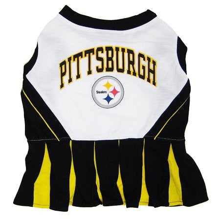 Pittsburgh Steelers Cheerleader Dog Dress, small