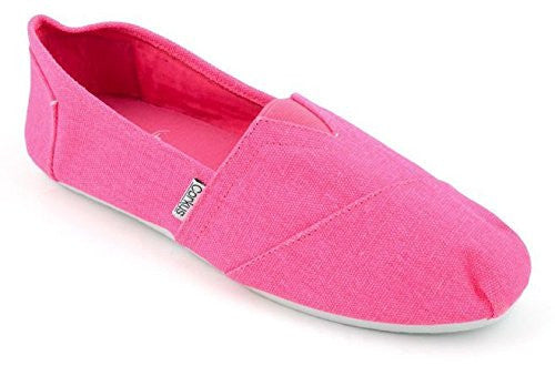 SUES Neon Canvas Girls Slip-On Shoe - Pink (Size 1)
