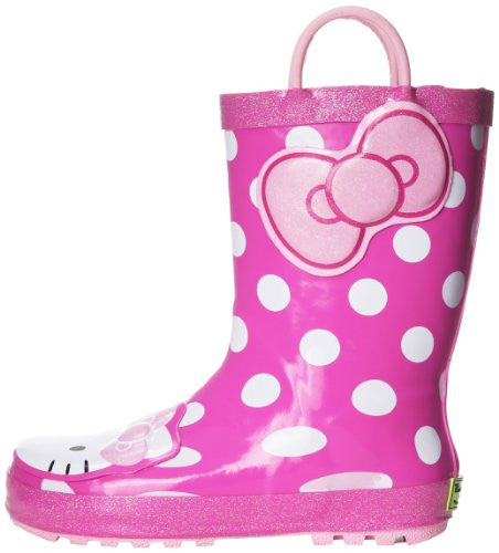 Western Chief Hello Kitty Cutie Dot Pink Boots Size: 7 Child