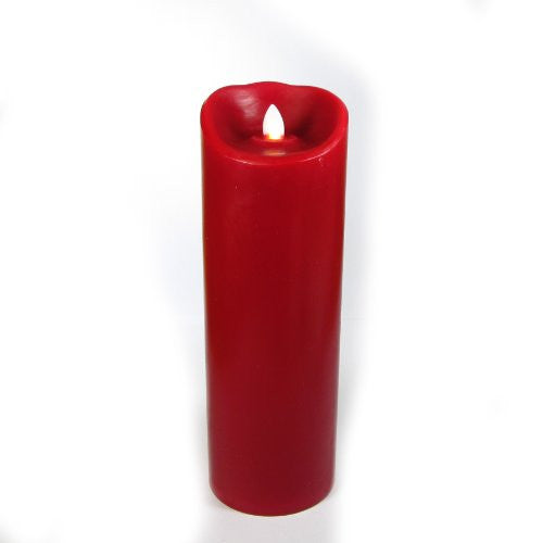 "3""x7"" Mirage Pillars, Smooth, Unscented, Red"