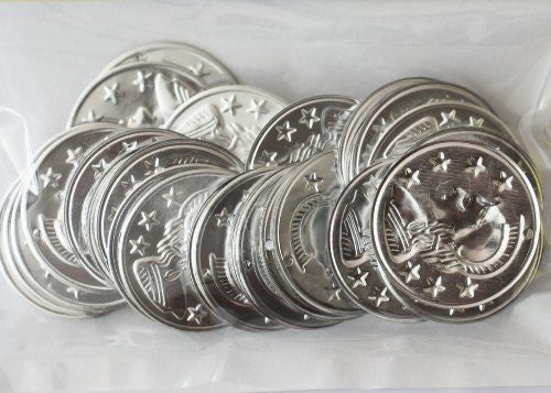 Aluminum Coin Charms - Silver Plated - 28mm - Big Value