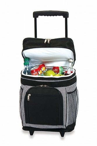 Picnic Plus Partytime Rolling Cooler Houndstooth