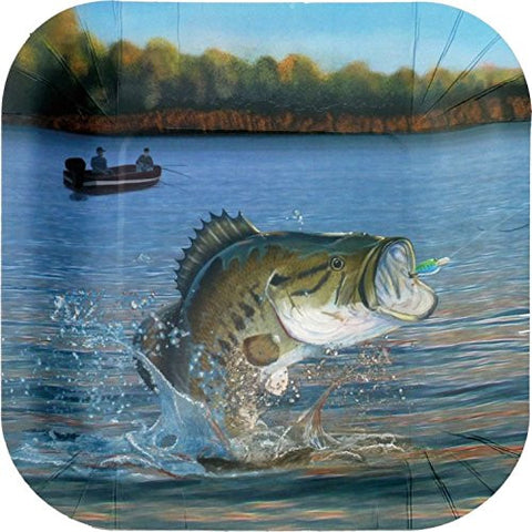 Gone Fishin' – 9 inch Square Party Plate
