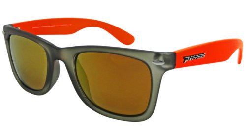 Sweet Matte Crystal Grey w. Fluorescent Orange Temples, Brown TAC-Tical Polarized w. Diamond Gold Mirror