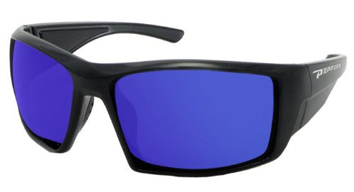Quiet Storm Matte Black, Brown TAC-Tical Polarized w. Blue Ice Mirror