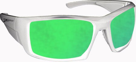Quiet Storm Matte White, Brown TAC-Tical Polarized w. Emerald Green Mirror