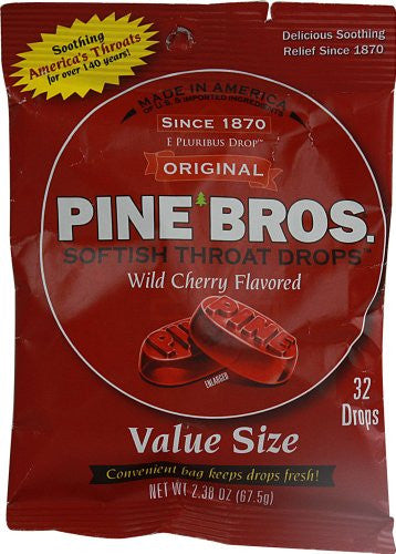 Wild Cherry Throat Drops 32-count Puck (Pack of 6)