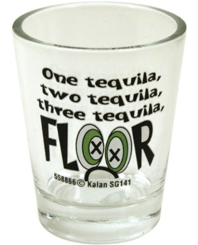 1 Tequilla 2 Tequilla 3 Tequilla Floor Shot Glass