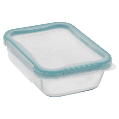 SNAPWARE Total Solutions 2-cup Glass Rectangle w/ Plastic Lid