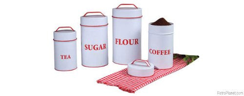 FOOD SF ENAMEL CANISTERS SET 4