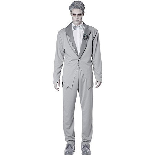 Ghostly Groom/Adult - Grey (M 40-42)