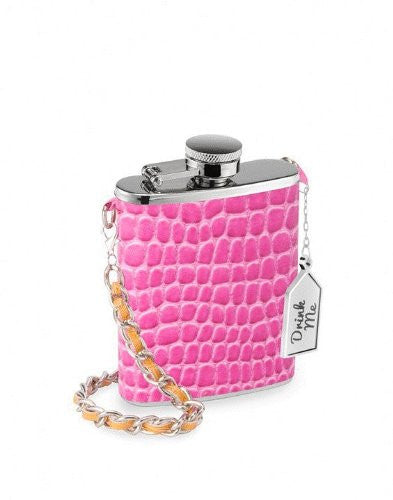 Pink Croc Mini Drinking Flask