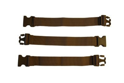 "38mm x 12"" Extender Straps, Dry Earth, Set of 3"
