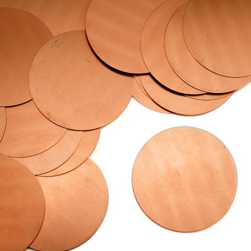 "Circle, 1 1/2""- Stamping Blank - Copper (24pc)"
