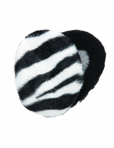 Earbags Bandless Fleece Ear Warmers,Large,Zebra Black/White.Zebra Black/White
