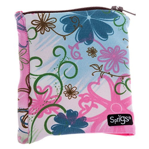 Sprigs Big Banjee Wrist Wallet (Pink Flower/Pink / One Size Fits Most)