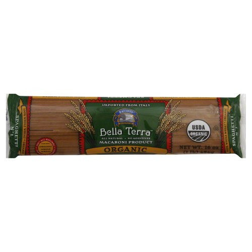 Bella Terra Pasta Spaghetti Whole Wheat Organic 16.0 OZ