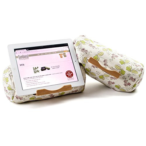 Lap Log Classic- iPad Stand / Touchscreen Tablet Holder (Orchid Blooms)