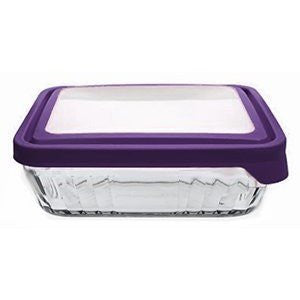 Anchor TrueSeal Rectangle Storage Dish Embossed - 6 Cup