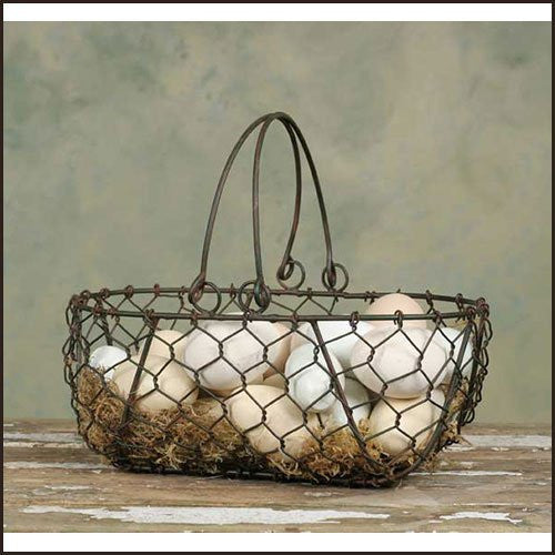 Gathering Basket – Green/Rust