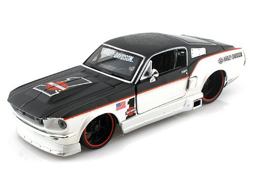 Maisto HD - Ford Mustang GT Hard Top Harley-Davidson #1 (1967, 1/24 scale diecast model car, Black & Pearl White)