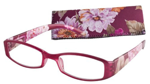"""Floral Temples"" Women's Readers (Fuchsia-1.25)"