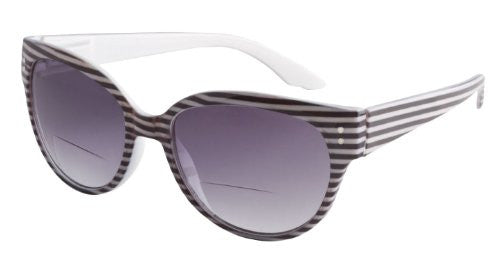 """Retro  Bi Focal"" Sun Readers (Black Stripe-1.75)"