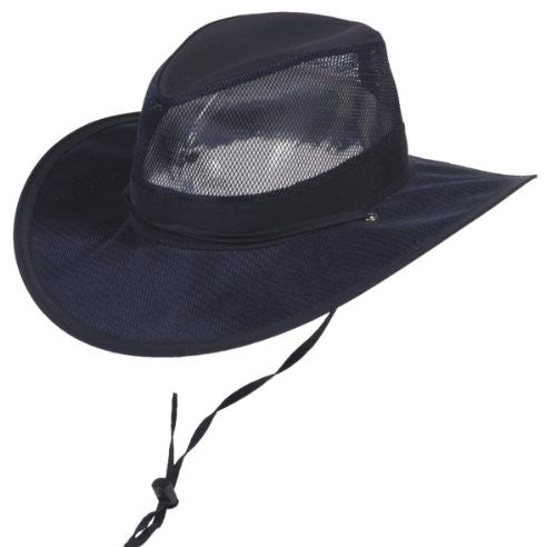 Airflow Light Weight Supplex Outdoor Hat - Navy, Large