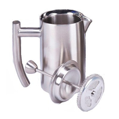 18/10 Stainless Steel French Press, brushed finish, 44 fl. oz.