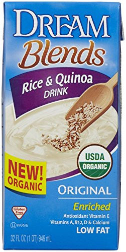 Rice Beverages Rice & Quinoa, Orig Enriched At least 95% Organic - 32 oz