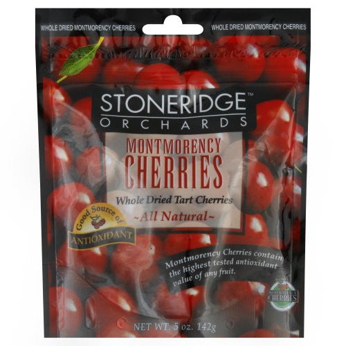 Whole Dried Montmorency Cherries 5.0 OZ (Pack of 6)