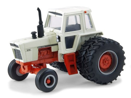 Tomy ERTL Case IH Agriculture - Case 1750 Farm Tractor (1976-1978, 1/64 scale diecast model car, Orange & Beige)