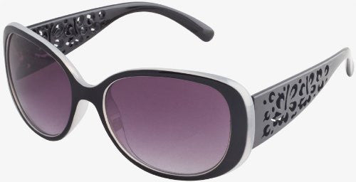 """Etched Hibiscus Temples"" Women's Sunglasses (Grey)"