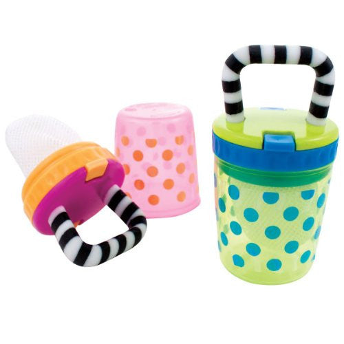 Sassy Polka Dots Teething Feeder - Assorted Colors
