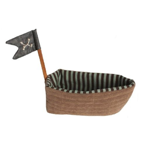 Pirate Ship Rattle Holder, 9-Inch