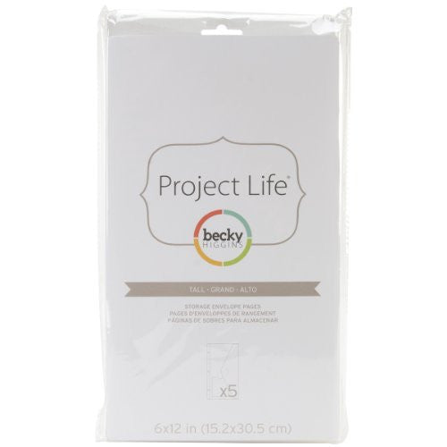 "American Crafts - Project Life Big Envelope Pages 6""X12"" 5/Pkg"
