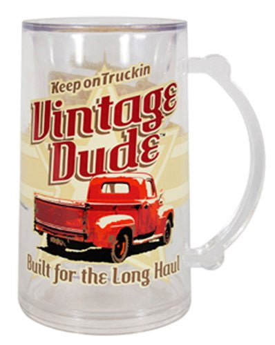 Vintage Dude Tankard (Keep On Truckin Vintage Dude Built for the Long Haul)
