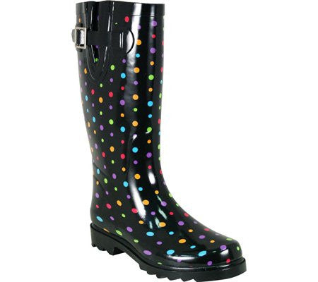Western Chief Women's Ditsy Dot Rain Boot,Multi,9 M US
