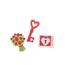 Key to My Heart Magnets - Set of 3