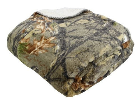 """The Woods"" Natural Gold Collection Licensed Sherpa Mink Throw"